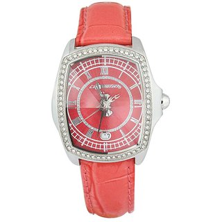 Chronotech Square Dial Pink Analog Watch For Women-Ct7896Ls97