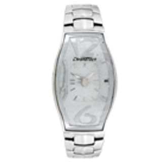 Chronotech Rectangle Dial Silver Analog Watch For Women-Ct7932L22M