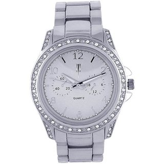 Tichino Round Dial Silver Analog Watch For Women-Gi7500Wsilversilver