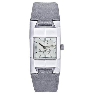 Miss Sixty Square Dial Silver Analog Watch For Women-Sda001
