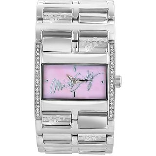 Miss Sixty Rectangle Dial Silver Analog Watch For Women-Sz3006