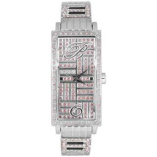 Blumarine Rectangle Dial Silver Analog Watch For Women-Bm3069Ls47M