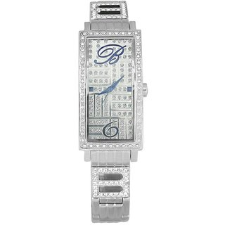 Blumarine Rectangle Dial Silver Analog Watch For Women-Bm3069Ls49M
