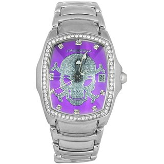 Chronotech Square Dial Silver Analog Watch For Women-Ct7896Ls104M
