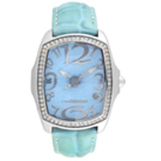 Chronotech Oval Dial Sky Blue Analog Watch For Women-Ct7896Ls21