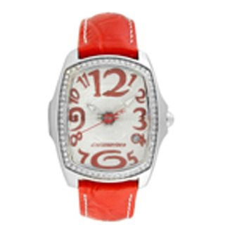 Chronotech Oval Dial Red Analog Watch For Women-Ct7896Ls24