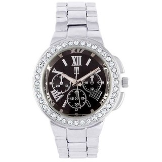 Tichino Round Dial Silver Analog Watch For Women-Gi8215Wblacksilver