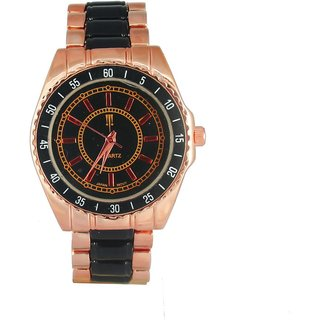Tichino Round  Dial Black Analog Watch For Unisex-T3Blackblack