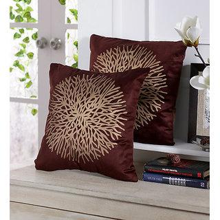 Premium royal Indian design cushion cover (Brown)