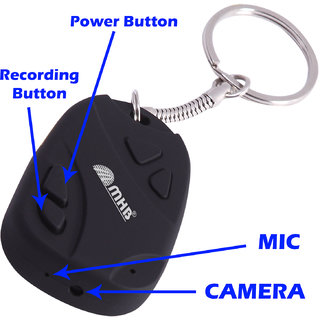 M MHB Smart Keychain Spy Camera with 6 months warranty Hidden Audio /Video Recording Support 32GB memory