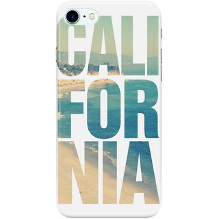 The Fappy Store California-Vintage-Beach-Summer-Typography Back Cover for Apple iPhone 7