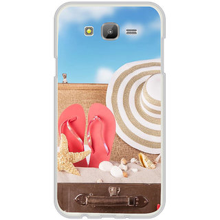 ifasho hat and chappal at a boat in Beach  Back Case Cover for Samsung Galaxy On 7Pro