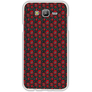 ifasho Animated Pattern small red rose flower with black background Back Case Cover for Samsung Galaxy On 7Pro