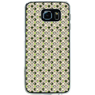 ifasho Animated Pattern design many small apple full and half Back Case Cover for Samsung Galaxy S6 Edge