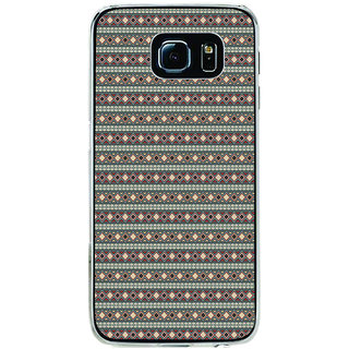 ifasho Animated Pattern colrful tribal design rajasthani style Back Case Cover for Samsung Galaxy S6 Edge