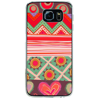 ifasho Animated Pattern colrful tribal design Back Case Cover for Samsung Galaxy S6 Edge