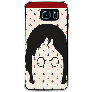 ifasho Modern Art Design Pattern with Lot Of small anchor Back Case Cover for Samsung Galaxy S6 Edge