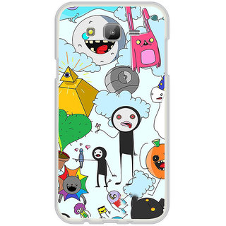 ifasho Cartoon Soft face many cartoons characters Back Case Cover for Samsung Galaxy On 7Pro