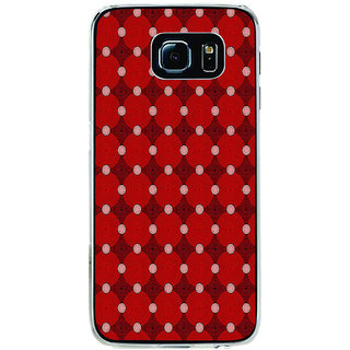 ifasho Design Clourful red and white Circle Pattern Back Case Cover for Samsung Galaxy S6 Edge