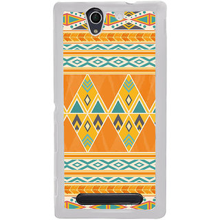 ifasho Animated Pattern colrful tribal design Back Case Cover for Sony Xperia C4
