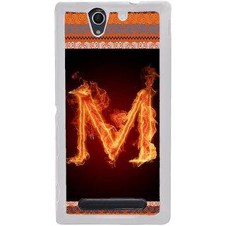 ifasho alphabet name series M Back Case Cover for Sony Xperia C4