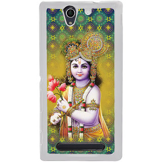 ifasho Lord Krishna in bal avtar Back Case Cover for Sony Xperia C4