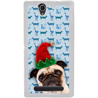 ifasho Dog with red hat Back Case Cover for Sony Xperia C4