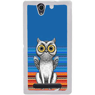 ifasho ModernBird and Owl Pattern Back Case Cover for Sony Xperia C4