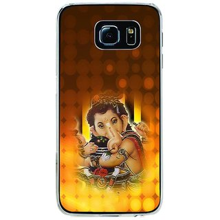 ifasho Lord Ganesha with linga Back Case Cover for Samsung Galaxy S6 Edge