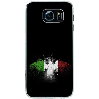 ifasho Tri Colour bird Back Case Cover for Samsung Galaxy S6 Edge