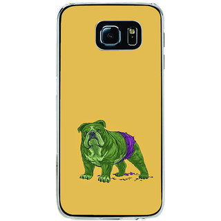 ifasho Animated Design Dog Back Case Cover for Samsung Galaxy S6 Edge