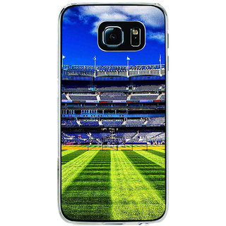 ifasho Football stadium field Baseball field Back Case Cover for Samsung Galaxy S6 Edge