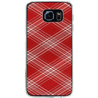 ifasho Design lines pattern Back Case Cover for Samsung Galaxy S6 Edge