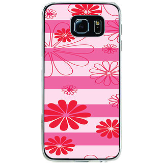 ifasho Modern Art Design animated cloth Pattern of flower Back Case Cover for Samsung Galaxy S6 Edge
