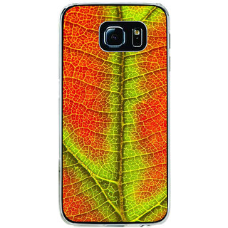 ifasho Leaf Back Case Cover for Samsung Galaxy S6 Edge