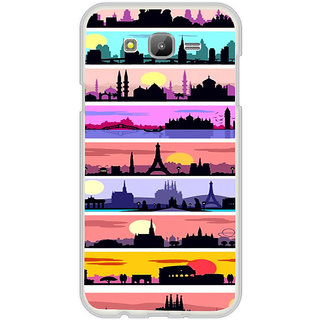 ifasho Modern Art Design Pattern tower temple building Back Case Cover for Samsung Galaxy On 7Pro