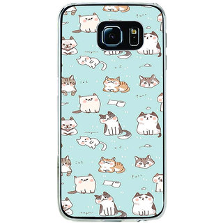 ifasho Animated Design  Many Cat Back Case Cover for Samsung Galaxy S6 Edge
