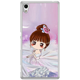 ifasho Princess Girl Back Case Cover for Sony Xperia M4 Aqua