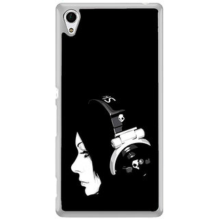 ifasho Girl with headphone Back Case Cover for Sony Xperia M4 Aqua