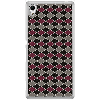 ifasho Animated Pattern of Chevron Arrows royal style Back Case Cover for Sony Xperia M4 Aqua