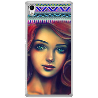 ifasho Gorgeous Winking Girl Back Case Cover for Sony Xperia M4 Aqua