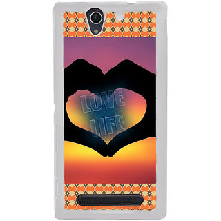 ifasho Love life heart shape made by hand  Back Case Cover for Sony Xperia C4