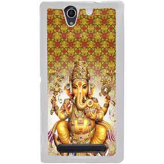 ifasho Lord Ganesha Back Case Cover for Sony Xperia C4