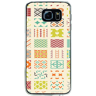 ifasho Animated Pattern colrful tribal design Back Case Cover for Samsung Galaxy S6