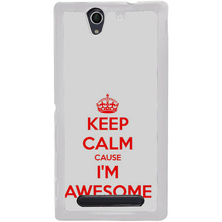 ifasho Nice Quote On Keep Calm Back Case Cover for Sony Xperia C4