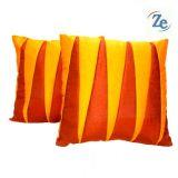 Zig Zag Patch Orange Comb(set Of 2 Pcs)