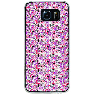 ifasho Colour Full Squre Pattern Back Case Cover for Samsung Galaxy S6 Edge