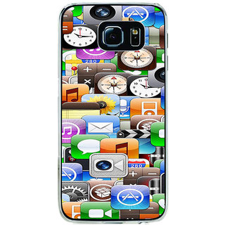 ifasho Modern  animated Design Pattern mobiles camera Back Case Cover for Samsung Galaxy S6 Edge