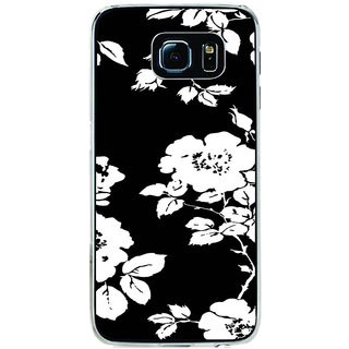 ifasho Animated Pattern rose flower with leaves Back Case Cover for Samsung Galaxy S6 Edge