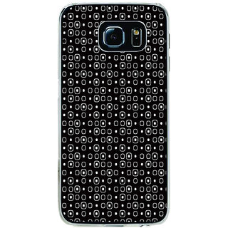 ifasho Modern Theme of black and white Squre and dots Back Case Cover for Samsung Galaxy S6 Edge